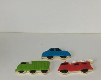 Cars and trucks cookies