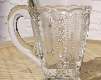 Mini Pressed Glass Mug