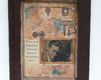 Assemblage Bool Art - Altered Book Art - Mixed Media -  F. Scott Fitzgerald