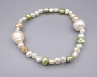 freshwater pearl stretch bracelet, pearl stretch bracelet, natural freshwater pearl bracelet, pearl stretch bracelet,