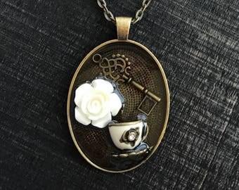 Teacup necklace | tea necklace