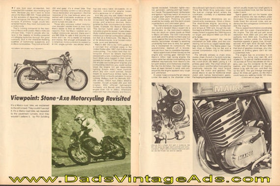 1975 Maico MD-250 Stone Axe Motorcycling Revisited 7-Page Article #e75hb07