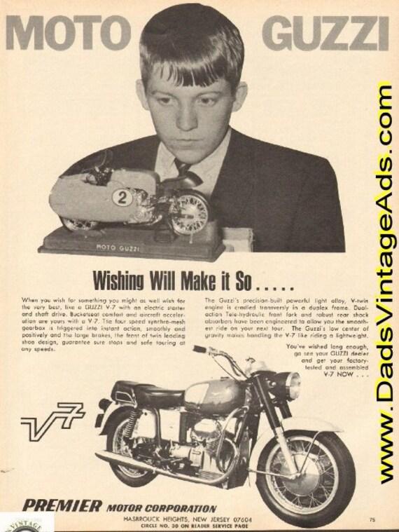 1969 Moto Guzzi V-7 - ''Wishing will make it so'' Ad #e69fa03
