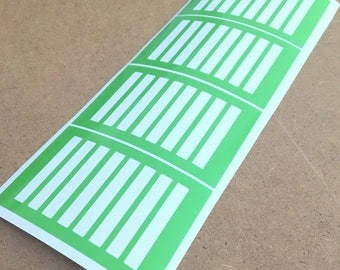 Thin Rectangle Makeup Swatch Stencil Stickers Perfect for Lipsense