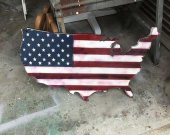America wood cutout (36 X 22)