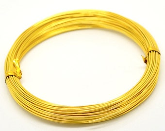 THE wire aluminum meter 1 mm Golden - sold by the yard
