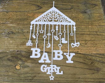 BABY BOY/GIRL papercut, babies, nursery, design by tommy&tilly, wall art, home decor