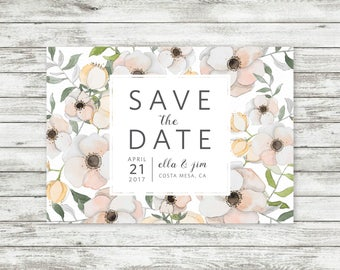 Floral Save The Date Invite - Customizable