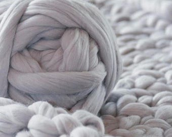 Super Chunky Wool Yarn, Super Bulky Yarn, Arm Knit Wool Yarn,Merino Wool, Merino Roving