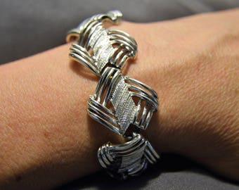 CORO PEGASUS Vintage Silver Tone Bracelet
