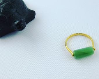 Golden ring LISA, aventurine