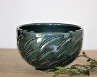 Handmade Bowl, Pottery Bowl, Ceramic Bowl, Green Bowl, Noodle Bowl, Creal Bowl, Serving Bowl