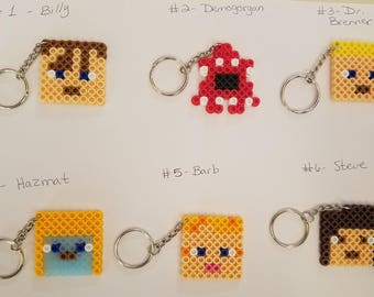 Stranger Things party favor pack - Set of 12 keychains or zipper pulls