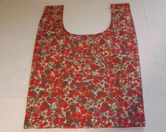 Eco-friendly bag red with storage Pocket