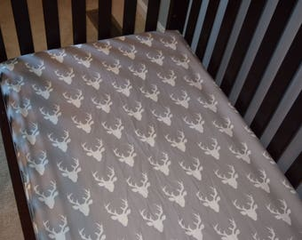 Deer baby crib sheet woodland nursery mountain bedding hunting baby show