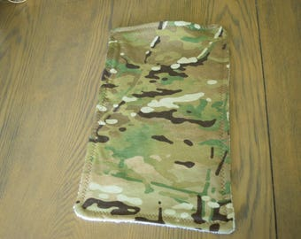 Baby Burp Cloth Army Military Unit Gift  Green Brown White