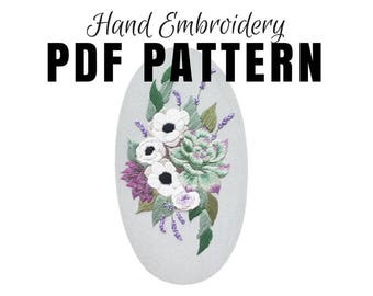 Colorful modern embroidery designs for by namasteembroidery for Hand thread painting tutorial