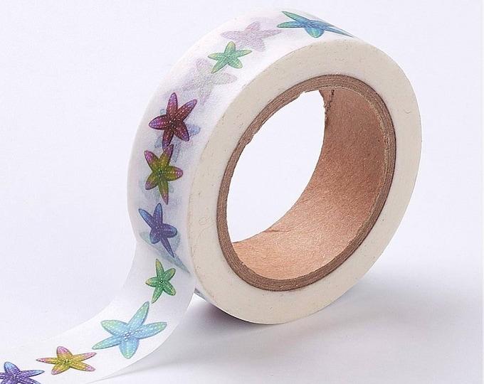 Washi Tape - Starfish Washi Tape - Tropical Washi Tape - Paper Tape - Planner Washi Tape - Washi - Decorative Tape - Deco Paper Tape