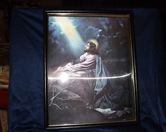 Vintage Hologram Picture of Jesus