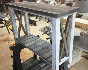 Barn Wood Entryway Table FREE SHIPPING