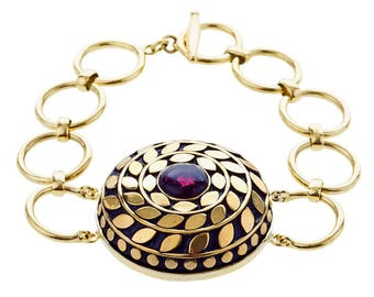 Fallon Wristband Brass