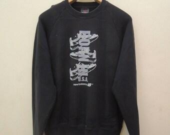 Vintage New Balance Big Logo Sweatshirt Pull Over Sportwear Street Wear Swag Size L