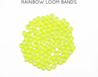 50 lobster S yellow neon rainbow loom bands