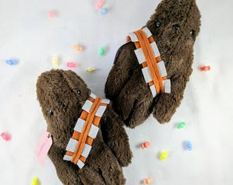 Kawaii cute plushie wookie Chewbacca inspired soft fur fabric plush