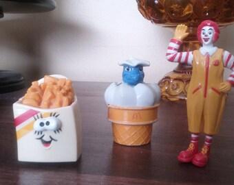 Vintage McDonald Happy Meal Toys Lot of 3 Ronald McDonald