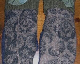 Felt lined Wool Mittens
