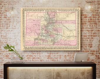 Colorado Map Etsy - Coloradomap