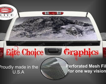 Huge Mountain Arctic Rear Window Graphic Tint Decal Sticker Truck SUV Van Car