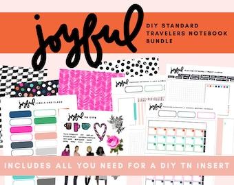 Joyful DIY Standard Traveler's Notebook Insert Bundle