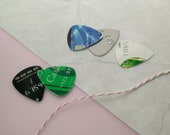 CREDIT CARD PLECTRUM / recycled guitar pick upcycled guitar gift / eco friendly gift for music lovers / recycled plectrums guitar accessory