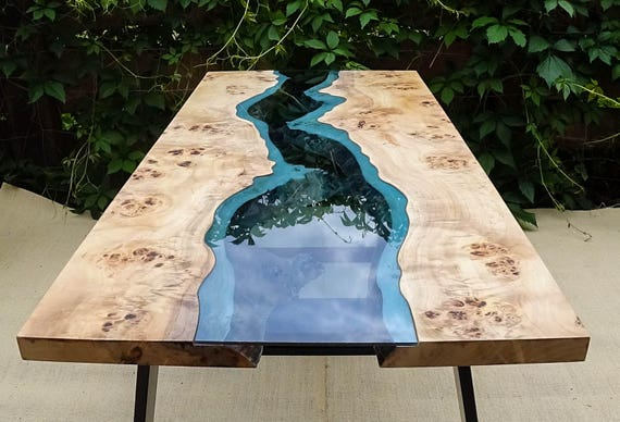 sold live edge river table with epoxy resin sold. Black Bedroom Furniture Sets. Home Design Ideas