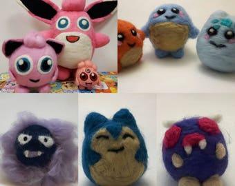 Felted Pokemon characters