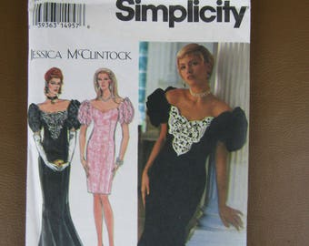 Simplicity pattern 8823 Jessica McClintock Sizes 18-20-22 formal dress UNCUT