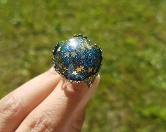 ring starry sky space reduce sold