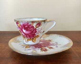 vintage made in japan tea cup and saucer retro china