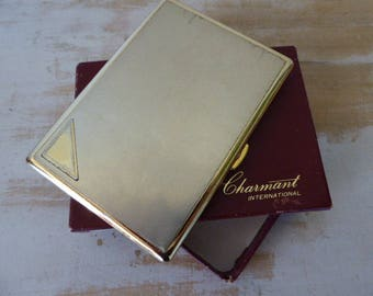 Charmant International Cigarette Case, Gold Coloured Card case, Collectible, Boxed Case, 0717014-209