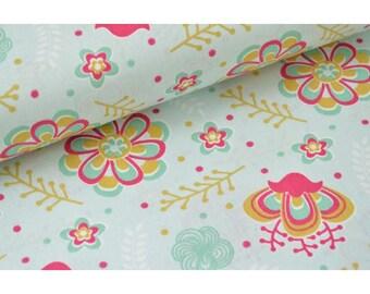Tissu coton imprimé dessin izia x50cm