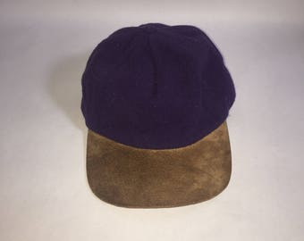 Royal Purple Vintage Gap Hunting Cap, Wool with Suede Brim