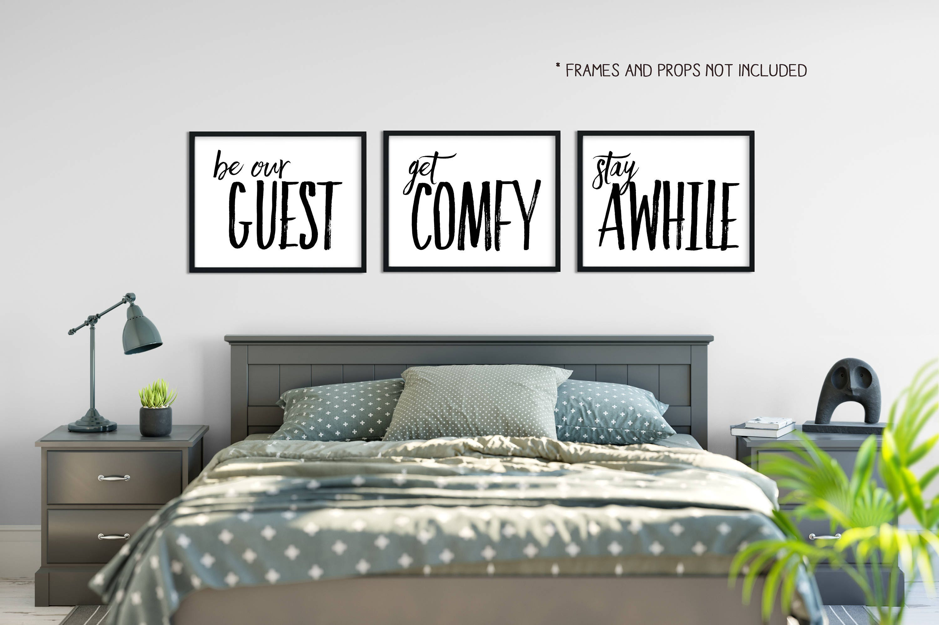 Home decor 16x20 wall decor be our guest get comfy for Got home decor