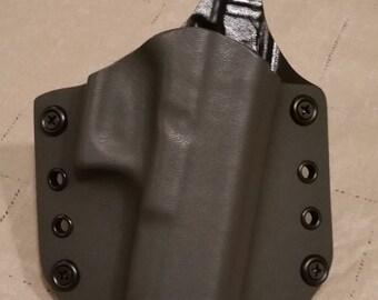 Gray OWB custom kydex holster