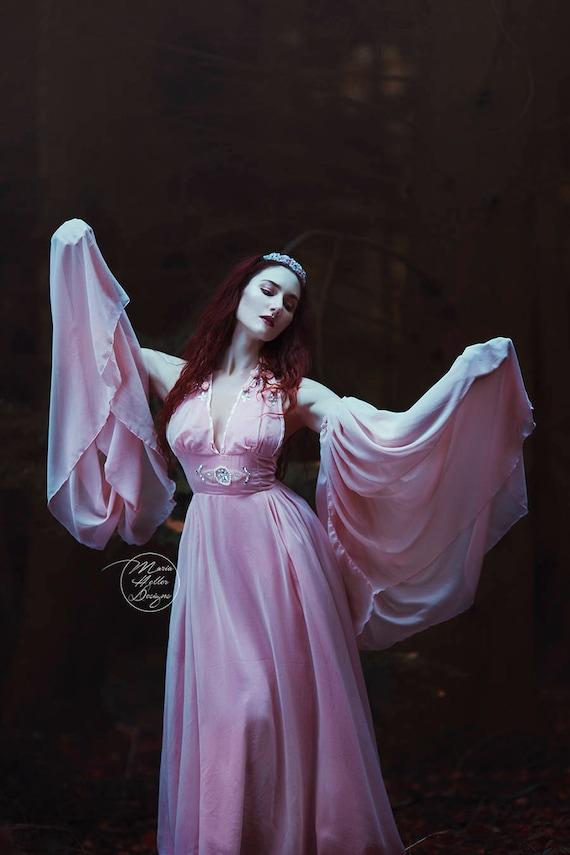 Pastell kleid lang