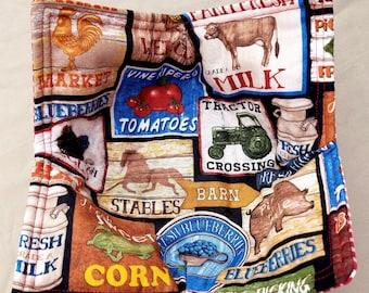 Farm Signs Labels Microwaveable Bowl