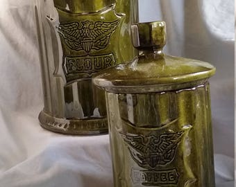 Retro Eagle Canister Set (set of 2)