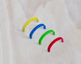 Set of 4 coloured cable ties to Swap Coloured Ring-Gift Idea-free shipping in Europe