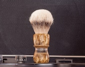 Shaving Brush - Black Anvil - Major Tom. Midas Gold Resin Handle.