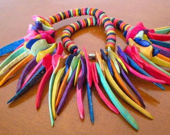 Colorful Tribal Style Necklace Africa
